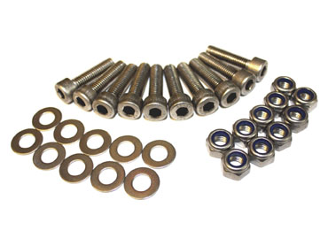 DA1136 DEFENDER REAR CROSSMEMBER TO BODY STAINLESS STEEL BOLT KIT